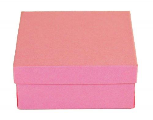 20 matte pink jewelry box 3 1 2 x 3 1 2 x 1 1 2