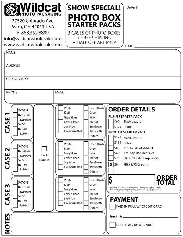 Trade Show Order Form - Wildcat Wholesale LLC