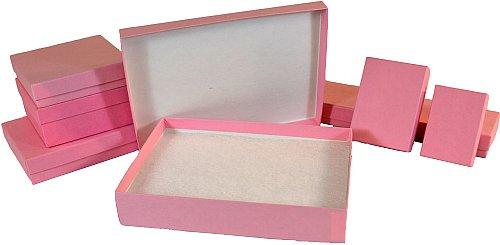 43 Matte Pink Jewelry Box 8 X 2 X 7 8