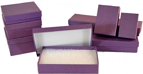 20 Matte Purple Jewelry Box 312 x 312 x 112