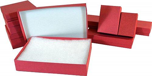 80 Matte Red Jewelry Box 7 x 5 x 114