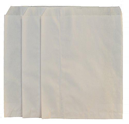 Small White Paper Merchandise Bag 8 5 X